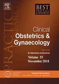 ژورنال Best Practice & Research Clinical Obstetrics & Gynaecology November 2018
