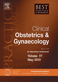 ژورنال Best Practice & Research Clinical Obstetrics & Gynaecology May 2019