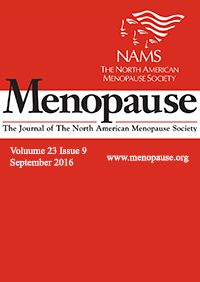 ژورنال Menopause September 2016