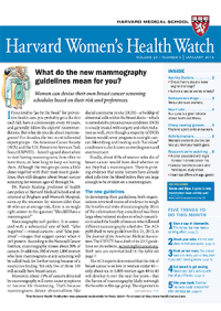 خبرنامه Harvard Womens Health Watch January 2016