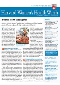 خبرنامه Harvard Womens Health Watch August 2016