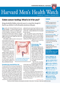 خبرنامه Harvard Mens Health Watch January 2016