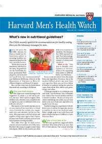 خبرنامه Harvard Mens Health Watch April 2016