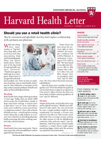 خبرنامه Harvard Health Letter March 2016