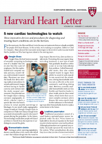 خبرنامه Harvard Heart Letter January 2016