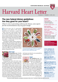 خبرنامه Harvard Heart Letter April 2016