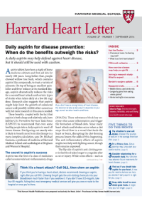 خبرنامه Harvard Heart Letter September 2016