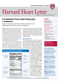 خبرنامه Harvard Heart Letter October 2016