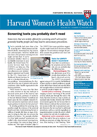 خبرنامه Harvard Womens Health Watch January 2017