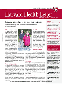 خبرنامه Harvard Health Letter January 2017