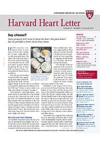 خبرنامه Harvard Heart Letter January 2017