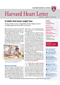 خبرنامه Harvard Heart Letter March 2017